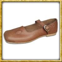 Mittelalter Kuhmaul Schuh aus Leder 38 (UK5)