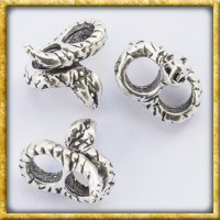 Mittelalterliche Bartperle mit Schlange - Silber