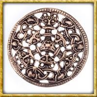 Grosse Wikinger Brosche im Borre Stil - Bronze