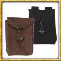 Dünne Mittelalter Ledertasche - Schwarz oder Braun