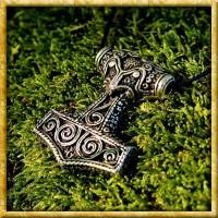 Wikinger Halskette Thors Hammer Schonen - Silber oder Bronze
