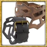 Durchgebrochenes Lederarmband - Schwarz oder Braun