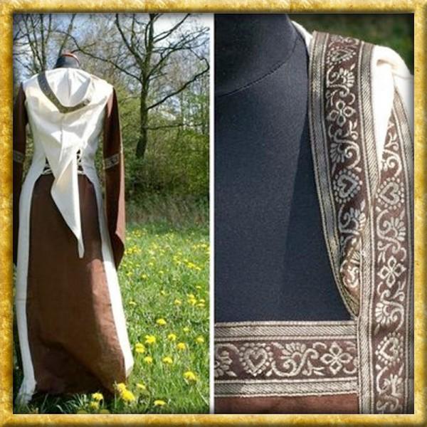 Kleid Saphiria - Braun/Natur