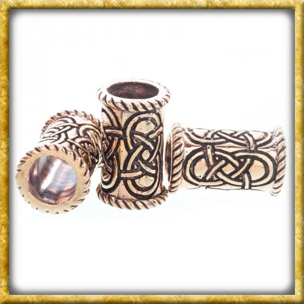 Lange Keltische Bartperle - Bronze