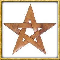 Geschnitztes Pentagram aus Holz