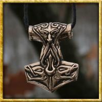 Wikinger Anhänger Thors Hammer aus Bronze