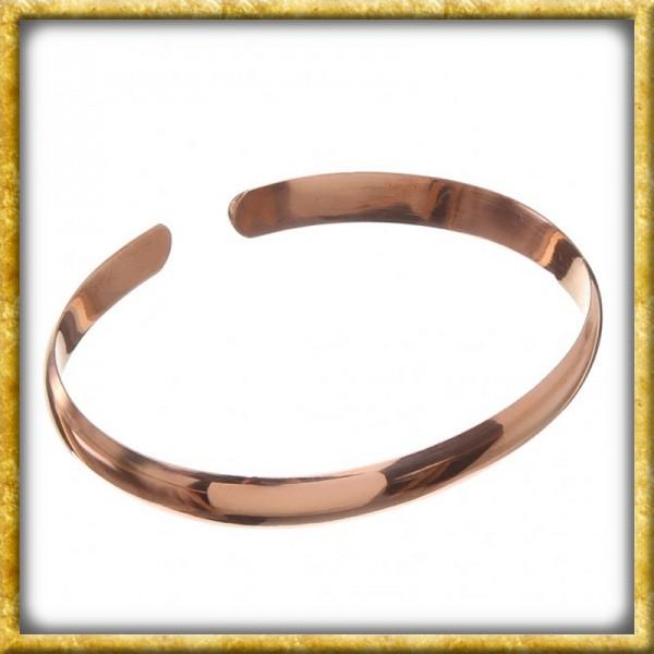 Glatter Armreif aus Bronze