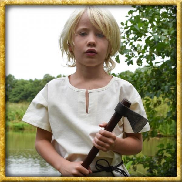 Mittelalter kurzarm Tunika für Kinder - Natur