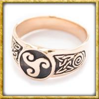 Siegelring aus Bronze - Triskel
