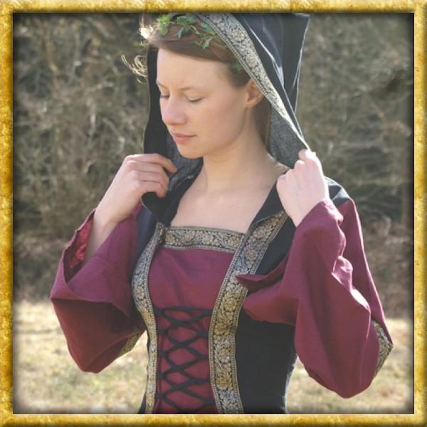 Mittelalter Kleid Saphiria - Bordeaux/Schwarz