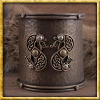 Breiter Armreif mit keltischer Schlange