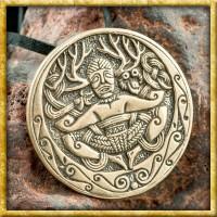 Keltischer Anhänger Cernunnos aus Bronze