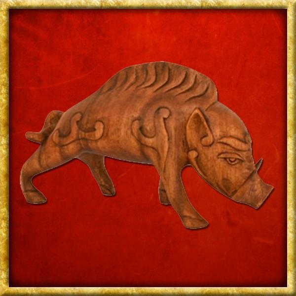 Keltisches Wildschwein aus Holz