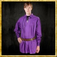 Langes Baumwollhemd - Violett