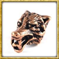 Bartperle mit Wolfskopf - Bronze