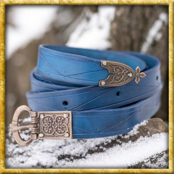 Mittelalter Ledergürtel König - Blau