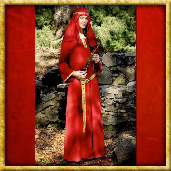 Normannisches Kleid mit Kopftuch