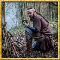 Mittelalterstiefel aus Wildleder - Braun