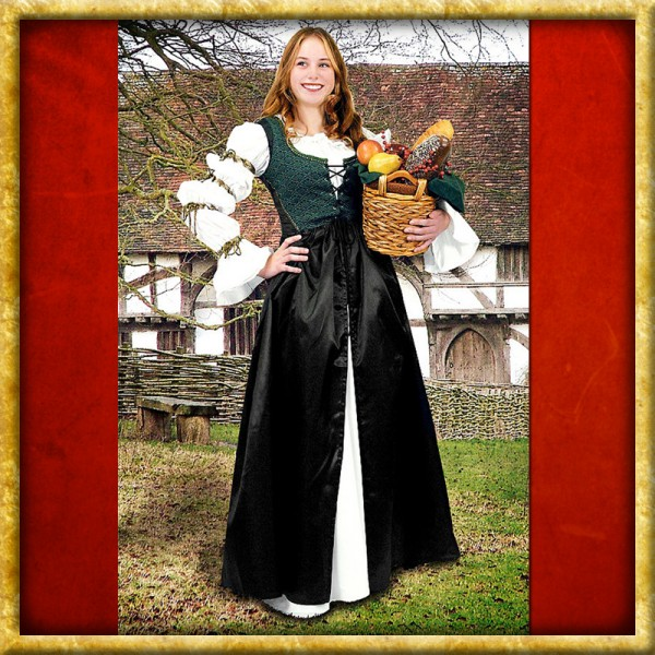 Ärmelloses Kleid mit Brustschnürung
