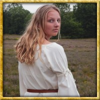 Mittelalter Unterkleid mit Trompetenärmeln - Natur