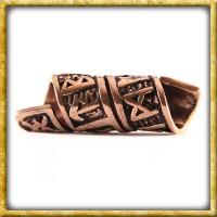 Wikinger Bartperle Runenspirale - Bronze