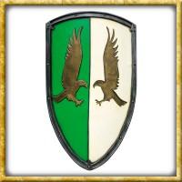 LARP Wappenschild mit Adlern - Grün/Weiss