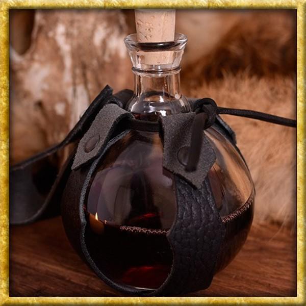 Feldflasche aus Glas mit Gürtelhalter