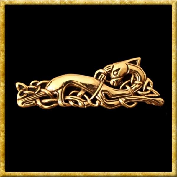 Keltische Brosche Anderswelthund - Bronze