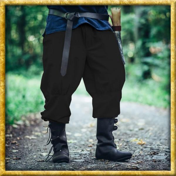 Wikingerhose mit Beinschnürung - Schwarz