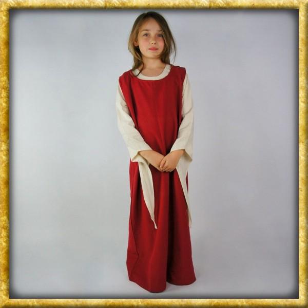 Einfaches Überkleid für Mädchen - Rot