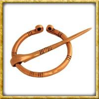 Kleine Wikinger Ringfibel aus Bronze