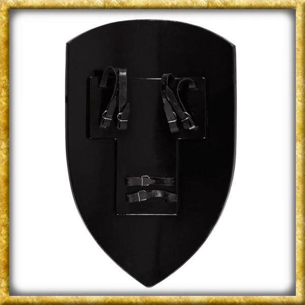 LARP Wappenschild - Rot/Schwarz