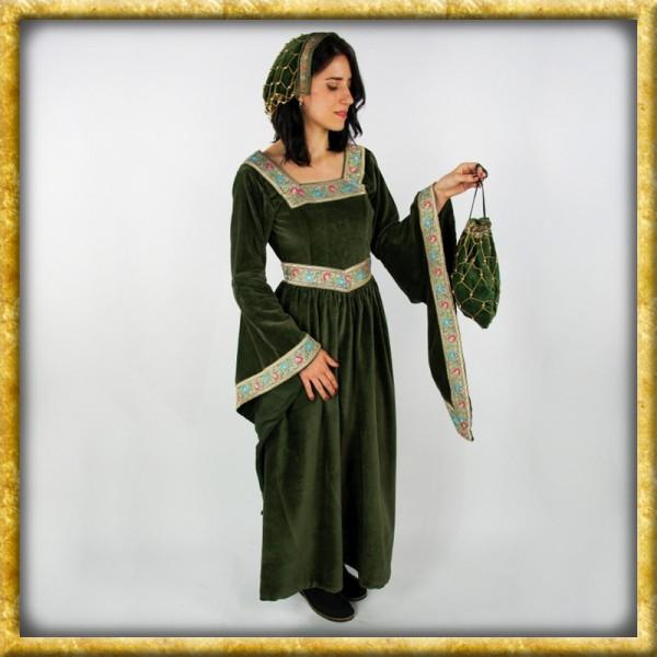 Adelskleid aus Baumwollsamt - Grün
