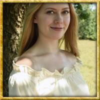 Mittelalter Bluse Carmen - Natur