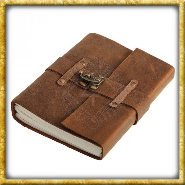 Notizbuch mit Ledereinband - A5