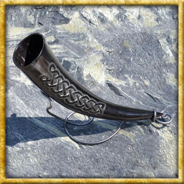 Trinkhorn mit keltischen Knoten - ca. 300ml