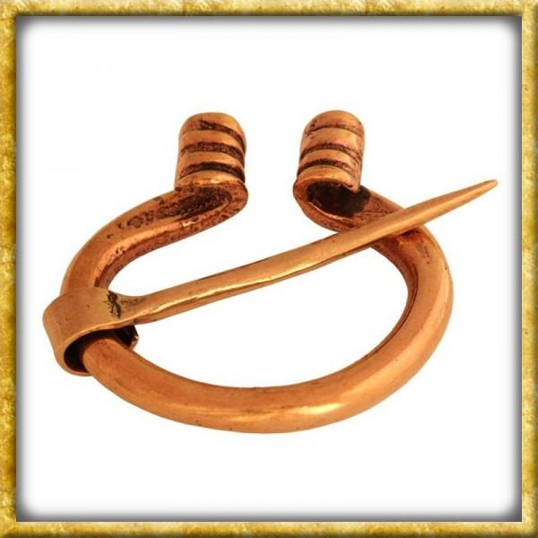 Robuste Wikinger Fibel aus Bronze
