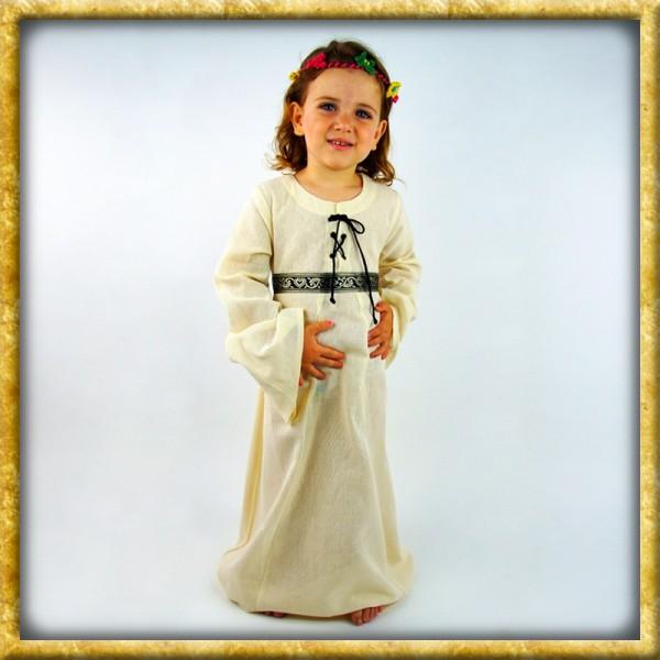 Kleid Piccola Donna für Mädchen - Natur