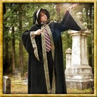 Schwarze Zauberer-Robe für Kinder