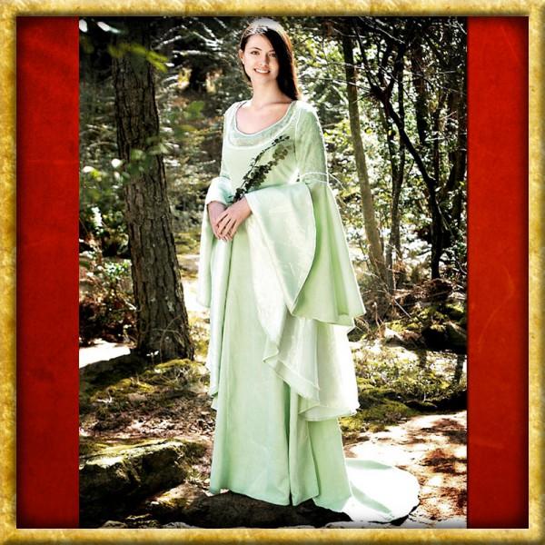 Kleid mit Schleppe - Mintgrün