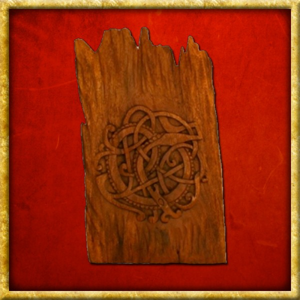 Midgardschlange aus Holz