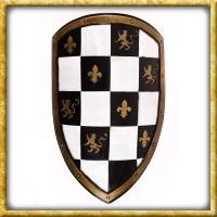 LARP Wappenschild - Weiss/Schwarz