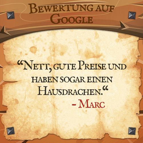 Google Bewertung Marc | Drachenhort