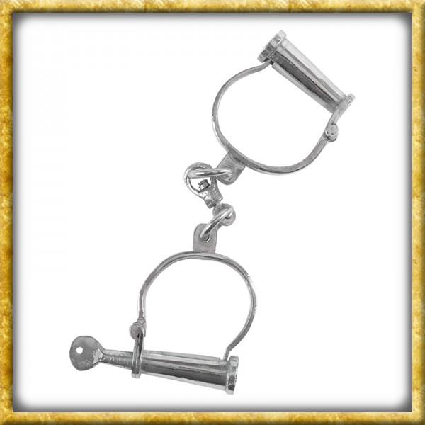 Mittelalter Handschellen aus verchromtem Stahl
