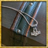 Thorshammer mit Kette - Silber