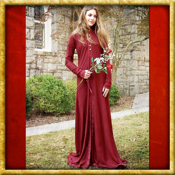 Leichtes Mittelalter Kleid - Rot