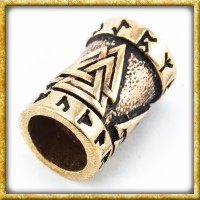Wikinger Bartperle Valknut - Bronze