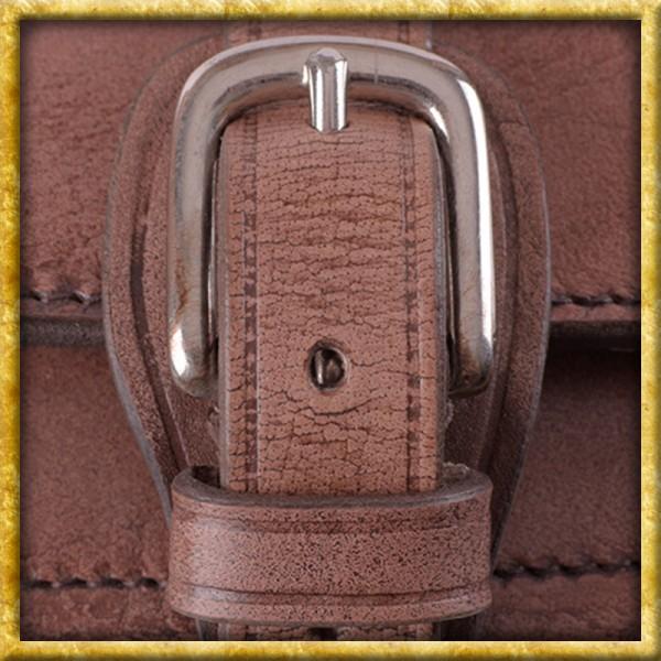 Jagdtasche aus Leder mit Schultergurt
