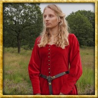 Samt Cotehardie Isabell - Rot
