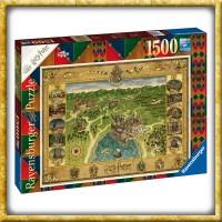 Harry Potter - Puzzle Hogwarts Karte